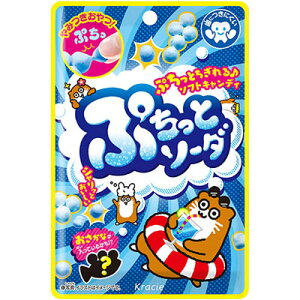 【クラシエ】100円 ぷちっとソーダ(10袋入)    {ソフトキャンディ ソフトグミ お菓子 おやつ まとめ買い}