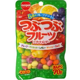 【明治チューインガム】138円 つぶつぶフルーツソフトキャンデー(10袋入)