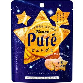 【カンロ】120円 ピュレグミ〈甘夏ソーダ味〉56g(6袋入)