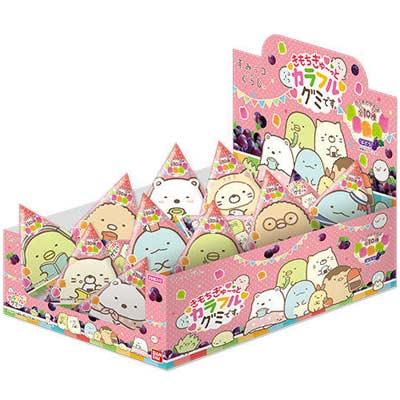 【バンダイキャンディ】70円すみっコぐらしきもちぎゅ~っとカラフルグミです。(20袋入)