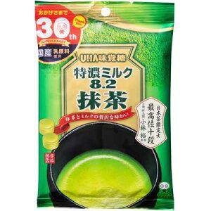【UHA味覚糖】200円 特濃ミルク8.2〈抹茶〉 75g(6袋入)