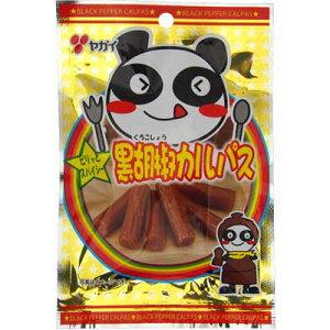 【ヤガイ】100円 黒胡椒カルパス23g(10袋入)     {駄菓子 だがし おかし おつまみ 珍味 サラミ 小袋}