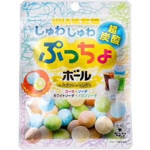 【UHA味覚糖】150円 ぷっちょボール しゅわしゅわ炭酸アソート50g(6袋入)     {ミニサイズ キャンディ あめ}