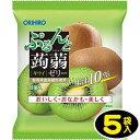 【オリヒロ】6個ぷるんと蒟蒻ゼリーパウチ〈キウイ〉(5袋入)