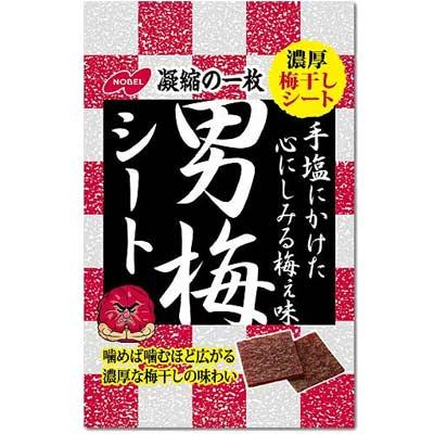 【ゆうパケット便】【送料無料】【ノーベル製菓】男梅シート27gtimes;12袋