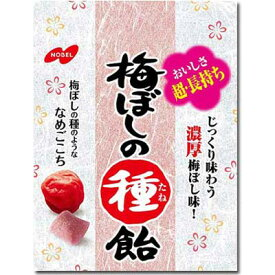 【ノーベル製菓】梅ぼしの種飴 コンパクトパック(6袋入)