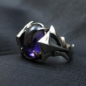 送料無料 アメジスト リング メンズ シルバー 指輪 WISH -color of wish-D.four・ディーフォー DF-035AM【楽ギフ_包装】 971292