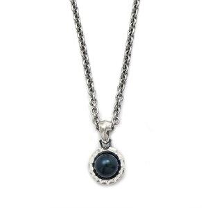 ブラックパール 天然真珠 ペンダント ネックレス チェーン シルバー925 メンズ ユニセックス ハンドメイド ギフト プレゼント 誕生日 お祝い オリジナル 銀製 大人アクセ パーティーアクセ