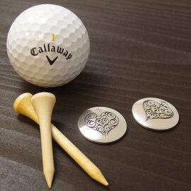 ゴルフマーカーボールマーカーペア送料無料刻印OK誕生石シルバーギフトプレゼントdagdartgolfダグダートゴルフMS-041-042【楽ギフ_包装】504315