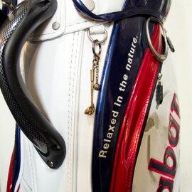 キーリングホルダーキーホルダーゴルフドライバー×ボール真鍮DAgDARTダグダートMS-043【楽ギフ_包装】603033