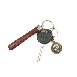 キーリングホルダーキーホルダーゴルフスカルシルバー×真鍮DAgDARTダグダートMS-046【楽ギフ_包装】603033