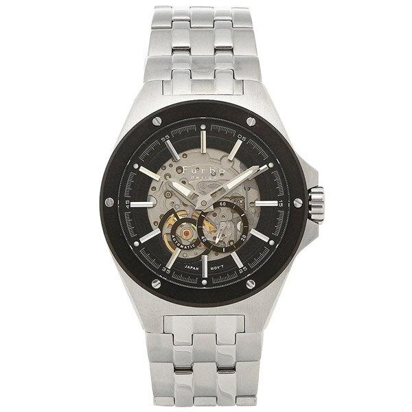 【クーポン利用で10%OFF】ブラック シルバー 自動巻き 日本製ムーブ F2501BKSS Furbo Design フルボデザイン メンズ 腕時計 国内正規品 送料無料