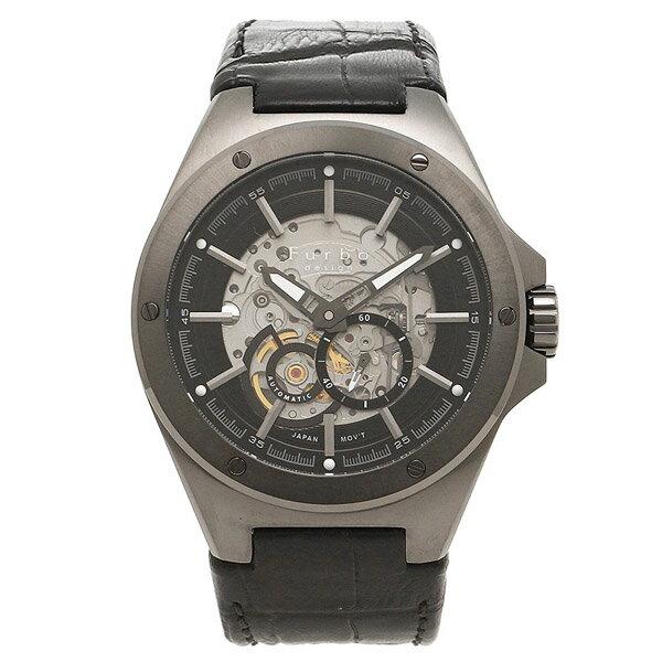 【クーポン利用で10%OFF】ブラック シルバー 自動巻き 日本製ムーブ F2501GBKBK Furbo Design フルボデザイン メンズ 腕時計 国内正規品 送料無料