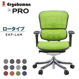 【送料無料】 エルゴヒューマン プロ PRO ロータイプ EHP-LAM パソコンチェア オフィスチェア メッシュチェア 昇降 高機能 リクライニング