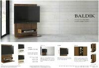 【送料無料】バルディック壁掛けTVボード幅100テレビボード壁掛け金具付き高さ調節BALDIK省スペースシンプルスタイリッシュリビングテレビ台人気サンキ