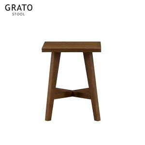 グラト スツール 椅子 イス コンパクト ウッドスルール GRATO 北欧 ブラウン 四角 角型 チェア 木製 北欧 モダン 人気 サンキ