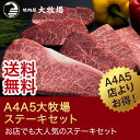 A4 A5 大牧場ステーキセット 送料無料 牛肉 焼肉 焼肉セット ギフト