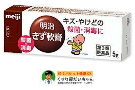 【第3類医薬品】明治きず軟膏 5gキズ・やけどの殺菌・消毒にゆうパケット送料250円