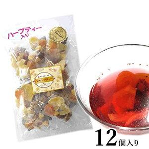 6種類のフルーツハーブティー 12個セット 食べられる 大容量 紅茶 ドライフルーツ ティーバック 業務用 ギフト 贈り物 手土産 無糖 パイナップル キウイ ベリー アップル 母の日 ダイエット