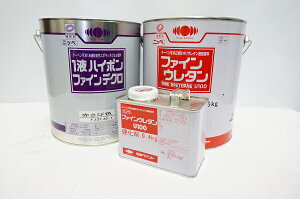 【送料無料】【塗装屋さんが使っている鉄部塗装セット・チョコ系の上塗りに!】《ニッペ1液ハイポンファインデクロ錆止め塗料、赤さび色・4kg+ファインウレタンU100上塗り、アクセント