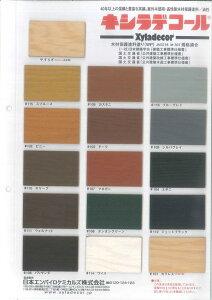 【この価格で送料無料】《今なら刷毛・軍手サービス》キシラデコール やすらぎ クリアー 16L (色見本帳、取り扱い説明書付き)※木材種類及び木材の傷み具合によって色合いが異なる