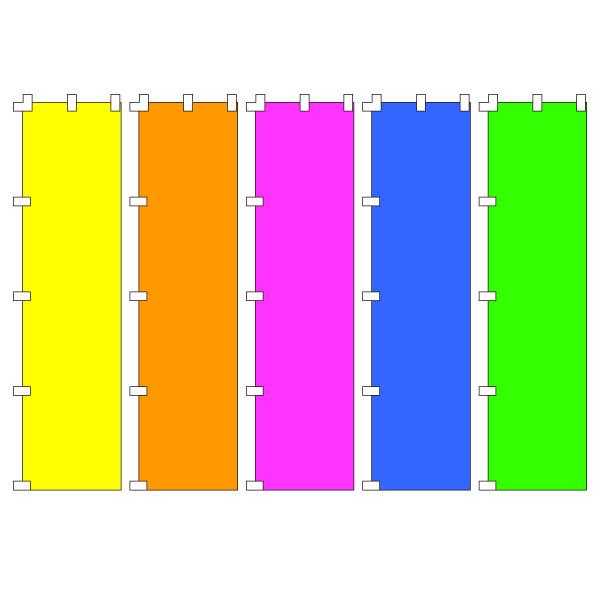 【メール便可】蛍光 無地のぼり旗「450mm×1800mm」(のぼり,旗,ノボリ,幟,上り)