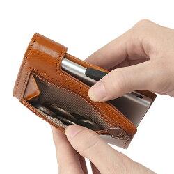 ミニ財布キャッシュレスゴルベGORBEクレジットカードケースイタリアンレザーアルミニウムカードホルダーc-secure