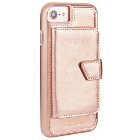 Case-Mate iPhone 8 4.7インチ 対応 (iPhone 7/iPhone 6s/6) Compact Mirror Case Rose Gold コンパクトミラー ケース ローズゴールド カード収納ホルダー付き
