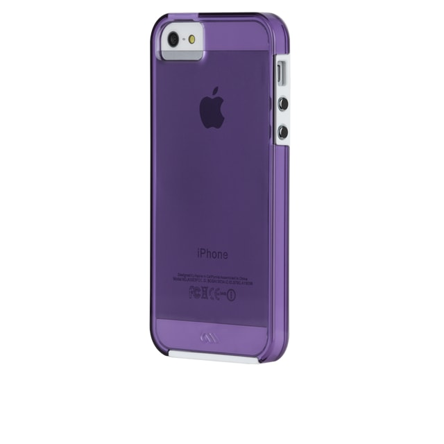 iphoneSE iphone5s iphone5 case-mate ケース Hybrid Tough Naked Case, Clear Violet / White