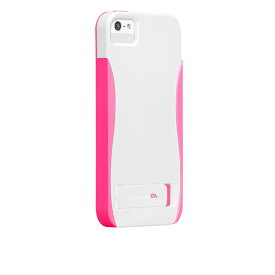 iPhone SE/5s/5 POP! with Stand Case, White / Neon Pink