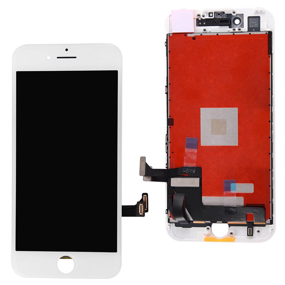 【iPhone7互換品】フロントパネル(液晶・ガラスセット) ホワイト 白 ブラック 黒【スマホ修理部品】