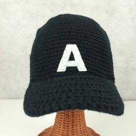 アウトレット商品 帽子 キャップ 秋・冬 ニット BBCAP [A] ブラック レディース メンズ