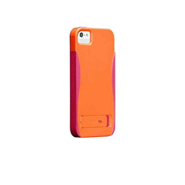 iphoneSEケース iphone5sケース iphone5ケース POP スタンド with Stand Case Orange/Pink スタンド機能付きケース case-mate ケースメート