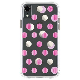 iPhoneXR ケース メタリックドット ピンク Wallpapers-Pink Dot Case-Mate ケースメート 耐衝撃性抜群