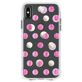 iPhoneXS Max ケース メタリックドット ピンク Wallpapers-Pink Dot Case-Mate ケースメート 耐衝撃性抜群
