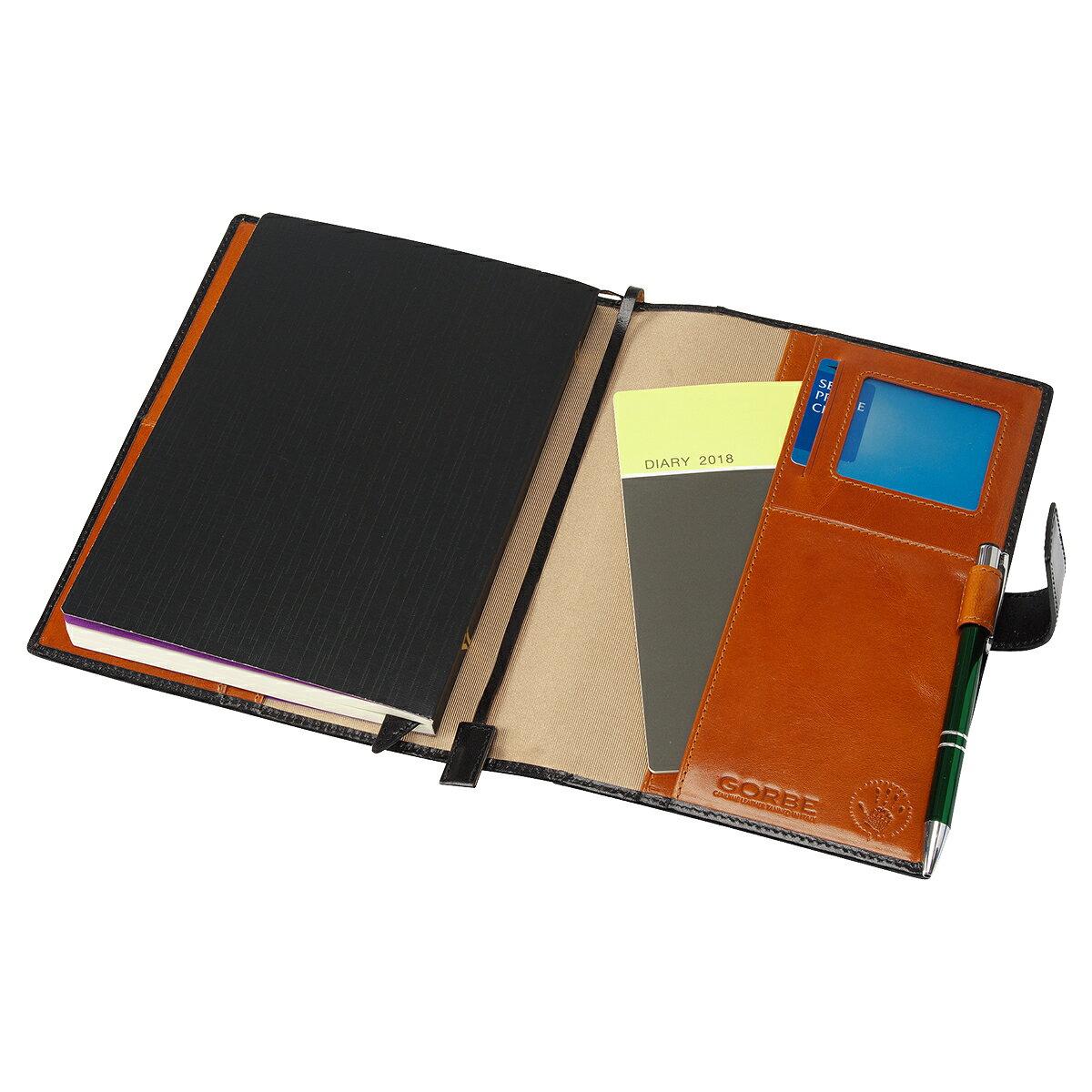 本革 本皮 手帳カバー ノートカバー ゴルべ GORBE イタリアンレザー手帳カバー A5サイズ対応 ほぼ日