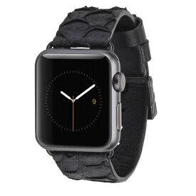 アップルウォッチ スマートウォッチ 交換ベルト 交換用ベルト アウトレット商品 case-mate Apple Watch 交換バンド アップル ウォッチ 38mm用 本革バンド Scaled Croc Leather Ebony