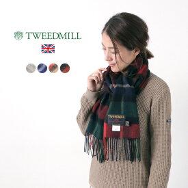 TWEED MILL(ツイードミル) ラムウール スカーフ / チェック / レディース / イギリス製 / LAMBSWOOL SCARF