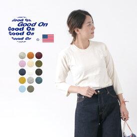 GOOD ON(グッドオン) ベースボール Tシャツ ラグラン 7分袖 / メンズ レディース / 無地 / ピグメントダイ / アメリカ製生地 / 日本製 / GOLT-601