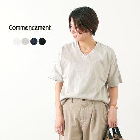 COMMENCEMENT(コメンスメント) ドルマン Vネック Tシャツ / 半袖 / カットソー / レディース / 無地 / 日本製