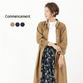 COMMENCEMENT(コメンスメント) オーバーシャツ ワンピース / レディース / ロング / 長袖 / 無地 / 日本製