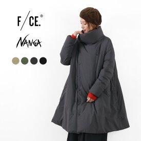 F/CE. × NANGA(エフシーイー × ナンガ) スタンド ダウンコート / レディース / Aライン / セミロング丈 / 保温 防水 透湿 / 日本製 / STAND DOWN COAT