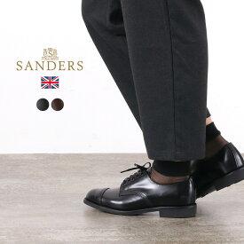 【ポイント10倍!1/18(月)1:59まで】SANDERS(サンダース) #1830 ミリタリーダービーシューズ / レザーシューズ レザーブーツ ドレスシューズ / レディース / 外羽根 ストレートチップ レースアップ / 英国製