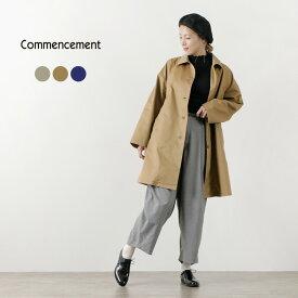 COMMENCEMENT(コメンスメント) デイリー コート / レディース / ロング / 長袖 / Aライン / ゆったり / シンプル / コットン / C-174 / DAIRY COAT / liou