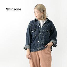 SHINZONE(シンゾーン) 2ndタイプ デニム ジャケット / ローテンションセルビッチ / ブルゾン / ジージャン Gジャン / ヴィンテージ 風 / 長袖 ロングスリーブ / 羽織り / レディース / 日本製 / 21MMSJK05 / liou