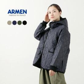 ARMEN(アーメン) オーバーサイズ フーデッド ジャケット / レディース / アウター / キルティングジャケット / ゆったり / ライトアウター / 軽い / NAM2153PP / liou