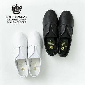 CROWN(クラウン) エラスティックタン ジャズ レザーシューズ / 靴 / 革 / レディース / シンプル / 無地 / イギリス製 / ELASTIC TONGUE JAZZ