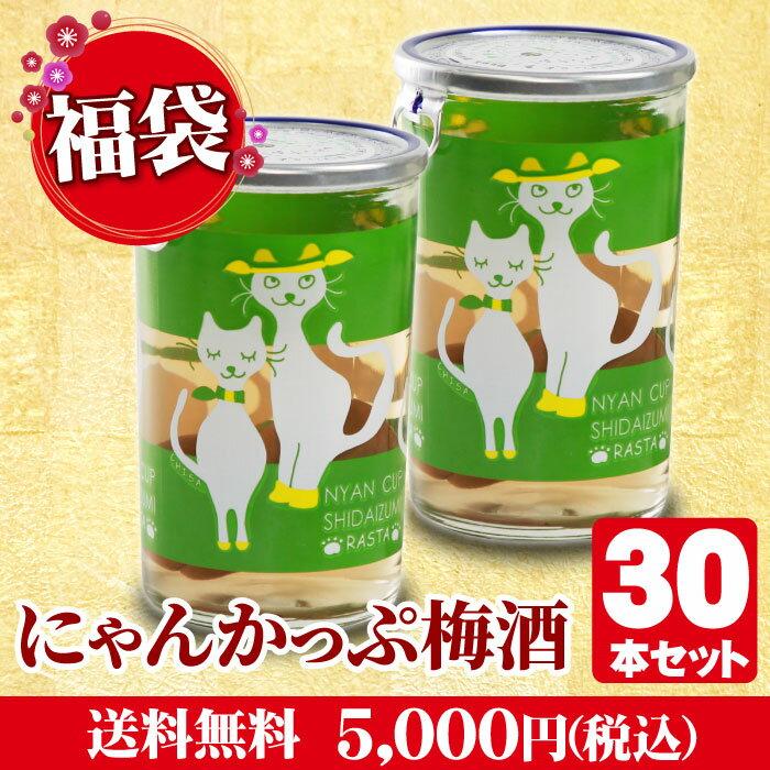 2019新春福袋にゃんかっぷ梅酒30本セット【送料無料】