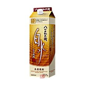 【送料無料1ケース】白水 〈麦〉 25度 メルシャン 1.8L(1800ml) パック 6本入★北海道、沖縄のみ別途送料が必要となります