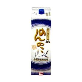 【送料無料2ケース】のんのこ 〈麦〉 20度 宗政酒造 1.8L(1800ml) パック 6本×2★北海道、沖縄のみ別途送料が必要となります